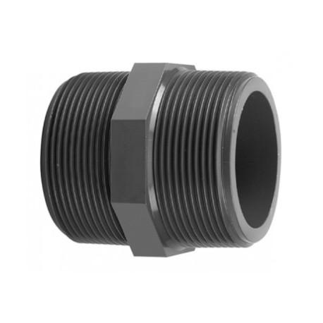 Nipplo filettato M/M PVC-U 3.35