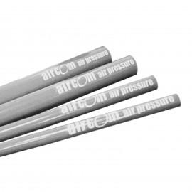 Grey aluminium pipe