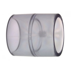 Socket transparent PVC-U