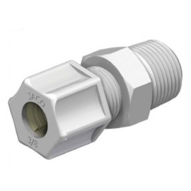"MALE CONNECTOR PP 3/4"" (19,0 mm) x 3/4"" NPT"