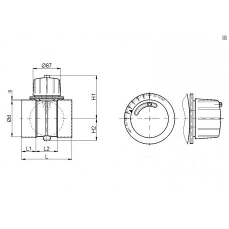 Damper ventilation PPs-El