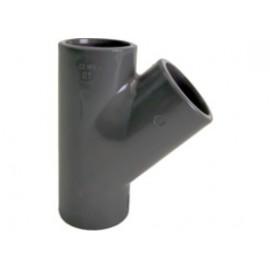 Tee 45° PVC-U