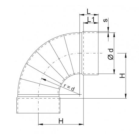Bend 90° ventilaion PVDF