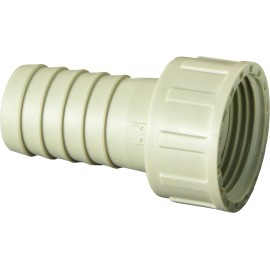 Hose connector with thread locknut PP
