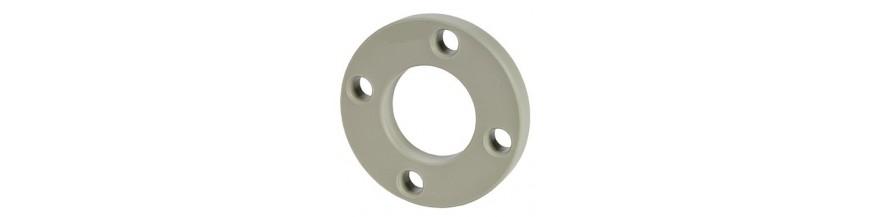 Backing flange PP/Steel ISO/DIN, Butt welding, Grey color