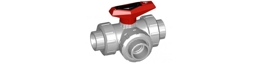 3-Way ball valve PVC-C