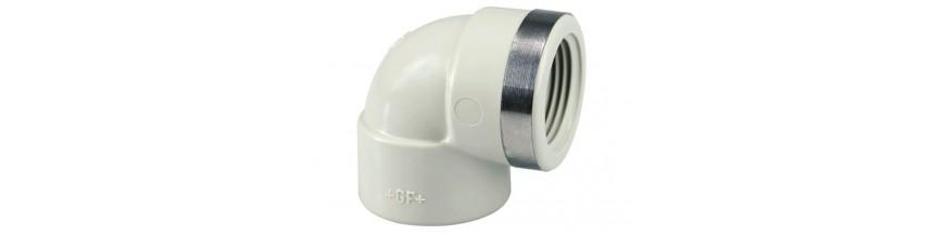 Adaptor 90° elbows Rp